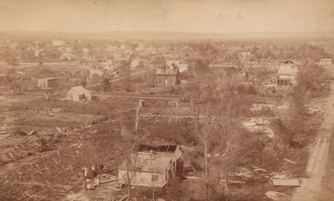 The aftermath of an F-5 tornado in Rochester August 21, 1883 / Photo: History Center of Olmsted County