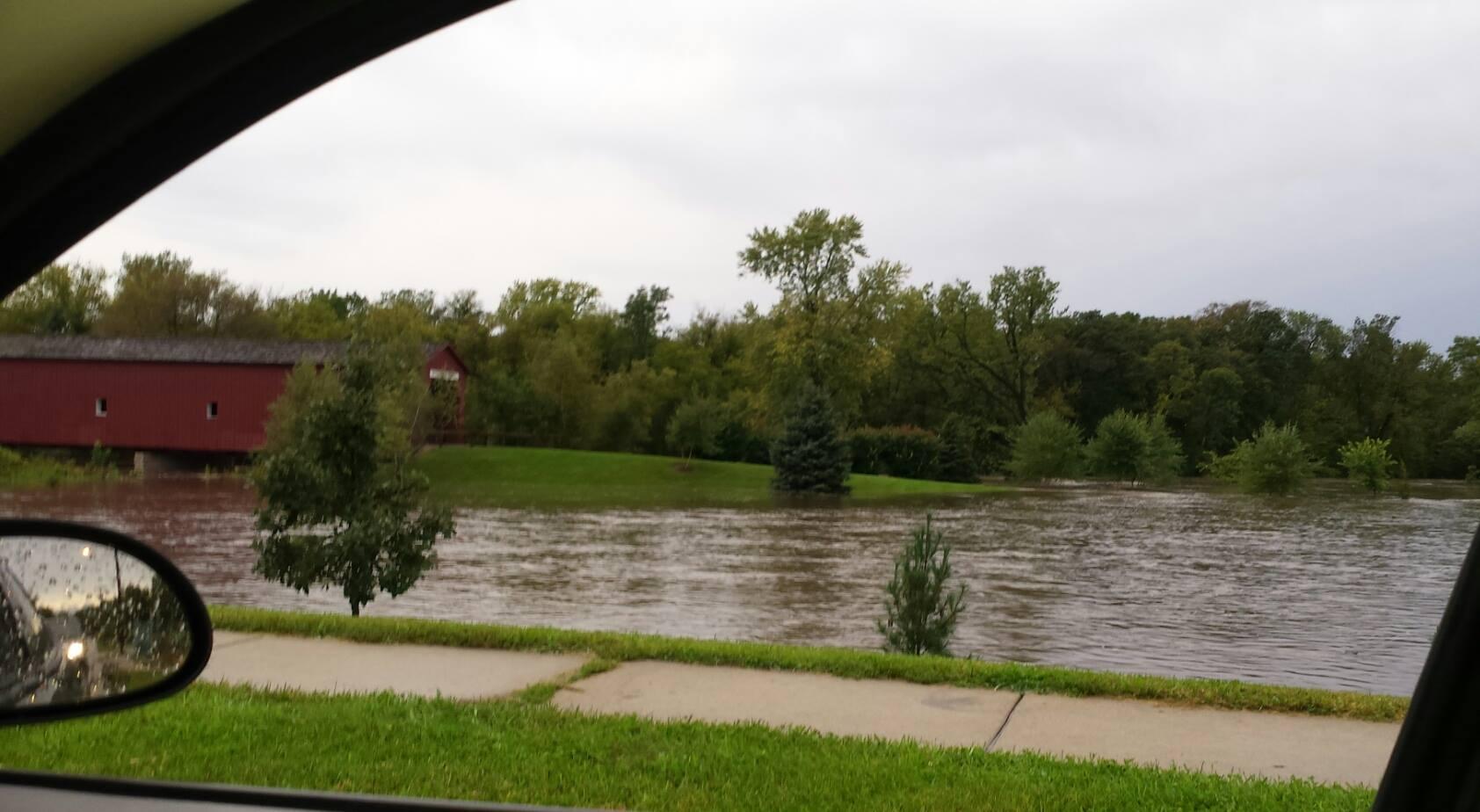 Covered Bridge Park flooded / Danielle Kennedy