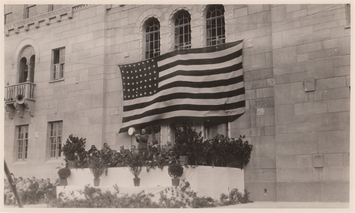 The Plummer buidling is dedicated on September 16, 1928 / Photo: History Center of Olmsted County