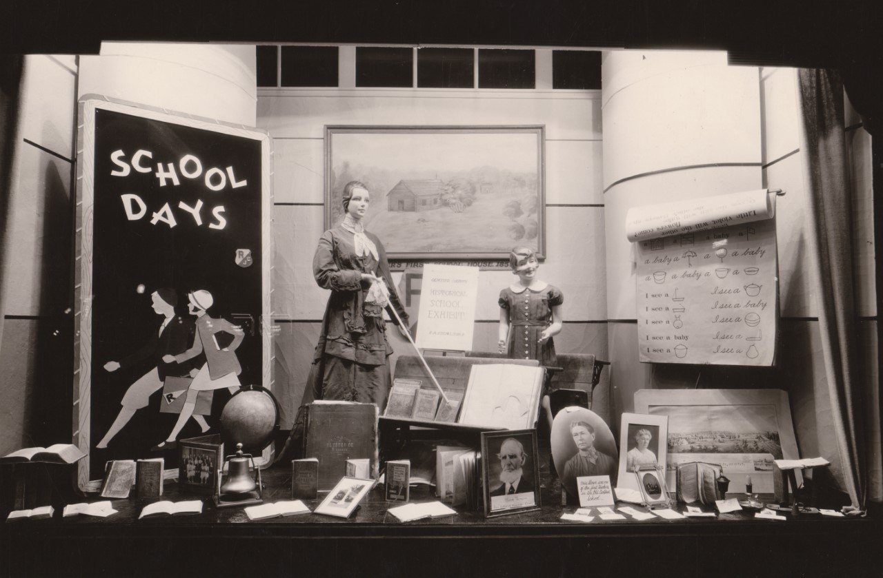 A back to school shopping display from 1935 / Photo: History Center of Olmsted County