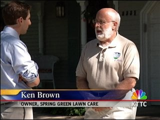 Brown:  working with customers to re-seed lawns
