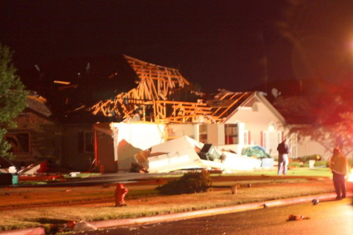 Damage to a home in Northwest Rochester
