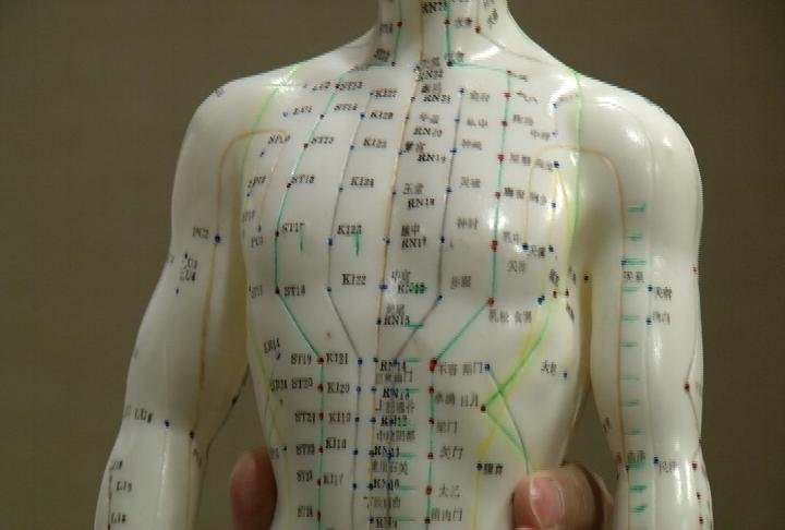 This figure is what acupuncturists call a meridian man, which is used to show acupuncture points.
