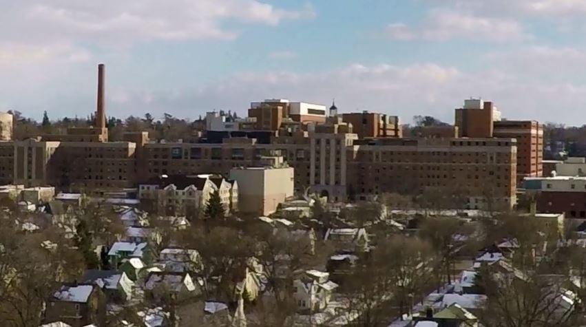 Mayo Clinic-Saint Marys on Thursday from KTTC's Drone Cam