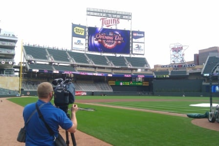 Target Field on Opening Day