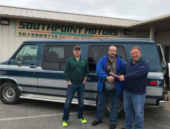 Corey Jacob gets new van