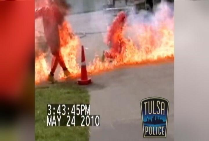 "Tulsa Police posted a video showing an explosion from handling a ""shake and bake"" bottle."