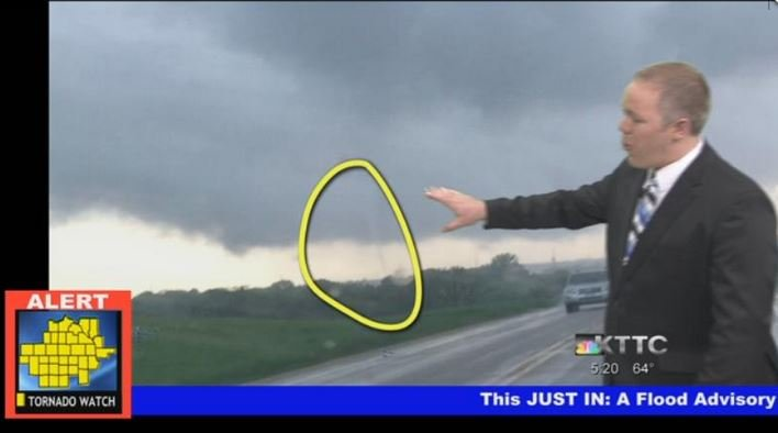 Wind event caught on camera near Plainview