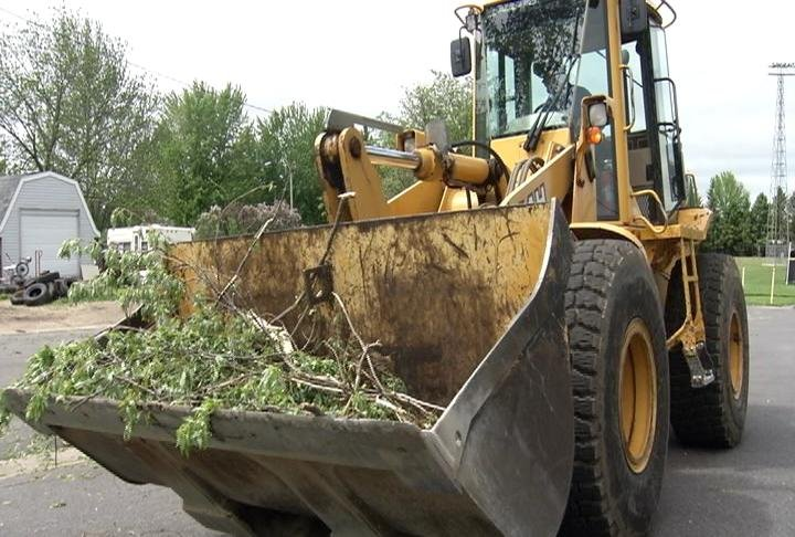 Plainview Public Works was hard at work cleaning up debri on Thursday afternoon, following the tornado on Wednesday evening.