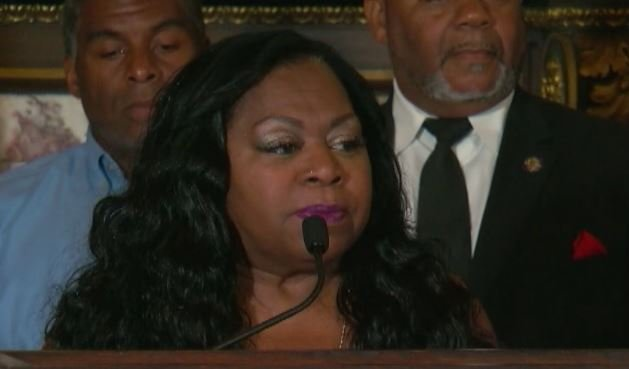 Valerie Castile during a press conference in the Governor's Reception Room at the state capitol earlier this month