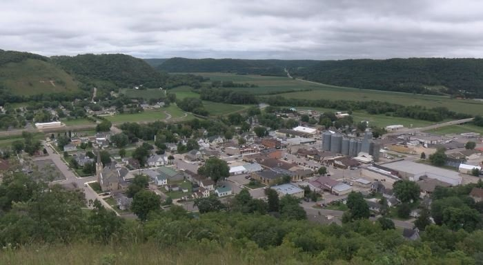 Overlooking the town of Rushford