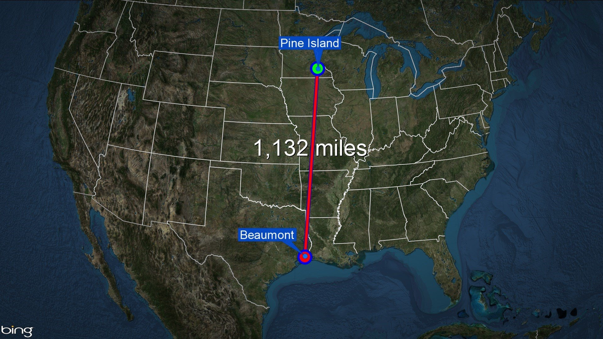 Kautz will travel 1,132 miles from Pine Island to Beaumont.