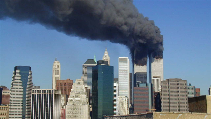 Scene of the attack in 2001.