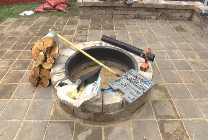 Volunteers have also installed a new patio and fire pit