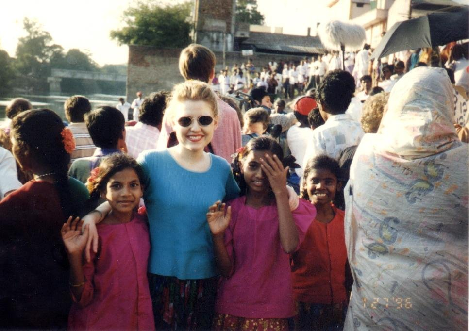 Baptism day at the Krishna River (February, 1996)