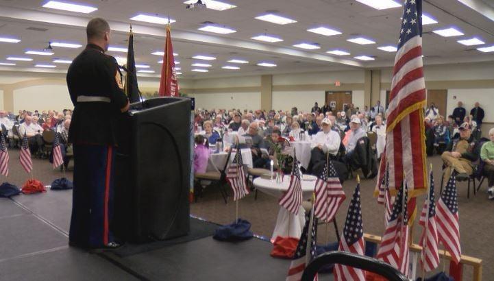Former Marine Vince Reynolds gave the keynote address.