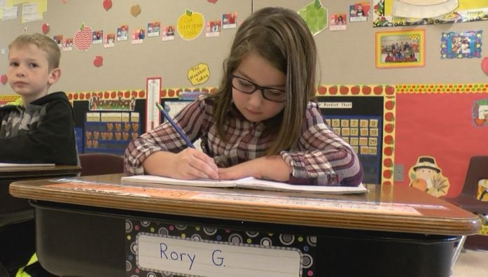 Rory, 6, gave $75.49 to her elementary school after an operating levy failed last week.