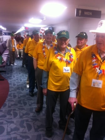 Honor Flight ready to go at Rochester International Airport