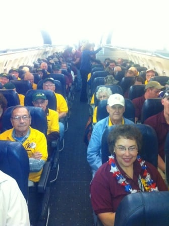 Honor Flight enroute to the nation's capital