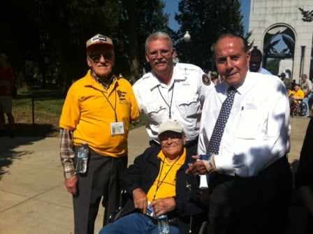Senator Bob Dole greeted those on the Honor Flight