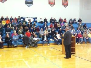Caucus begins in Worth County, Iowa