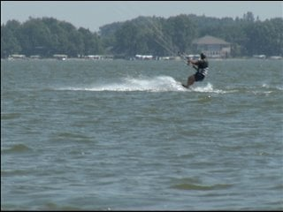 Kite-boarding on Clear Lake