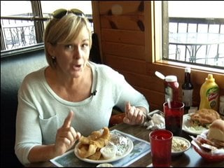 "Our reporter sampling the ""best walleye in Ventura"""