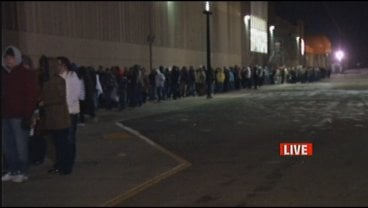 Hundreds of shoppers lined up before 6 a.m. outside Mills Fleet Farm