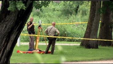 Authorities investigate stabbing on Monday at Swensrud Park in Northwood