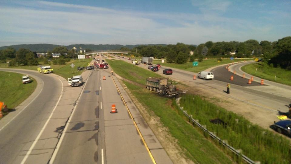 I-90 eastbound, La Crosse/WXOW-TV