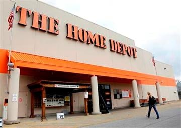 (AP Photo/Mark Humphrey). This Aug. 14, 2012 file photo shows a Home Depot store in Nashville, Tenn.