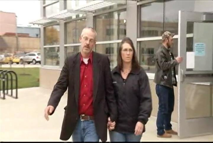 Jason Mindrup leaves the Mower County Justice Center