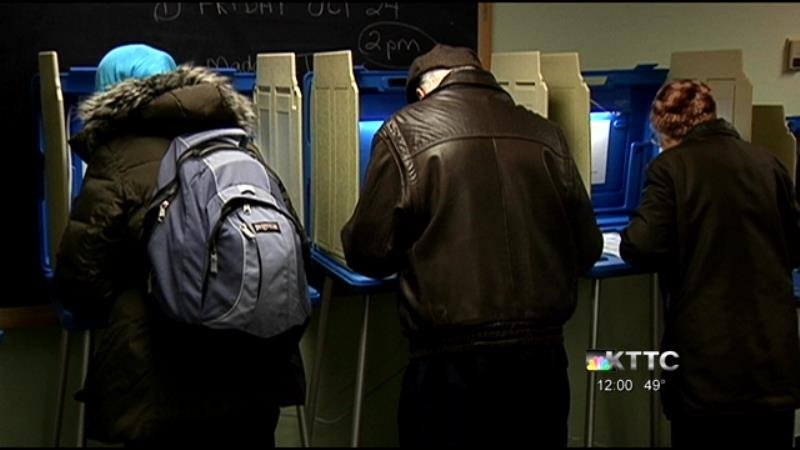 Voters cast ballots at Rochester Senior Center