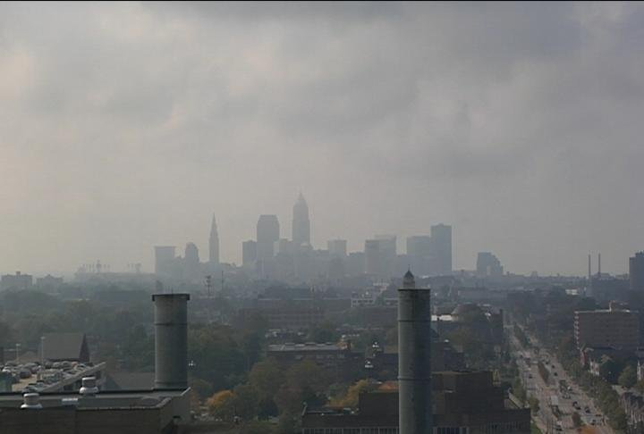 Cleveland skyline in October