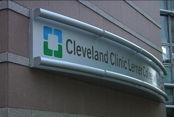 Outisde the Cleveland Clinic