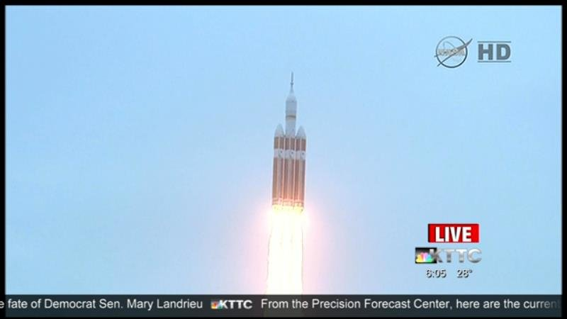 Orion takes off early Friday morning from Cape Canaveral, Florida at 6:05 a.m. Friday