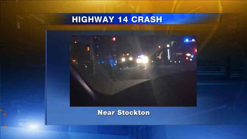 Accident on Highway 14, east of Stockton