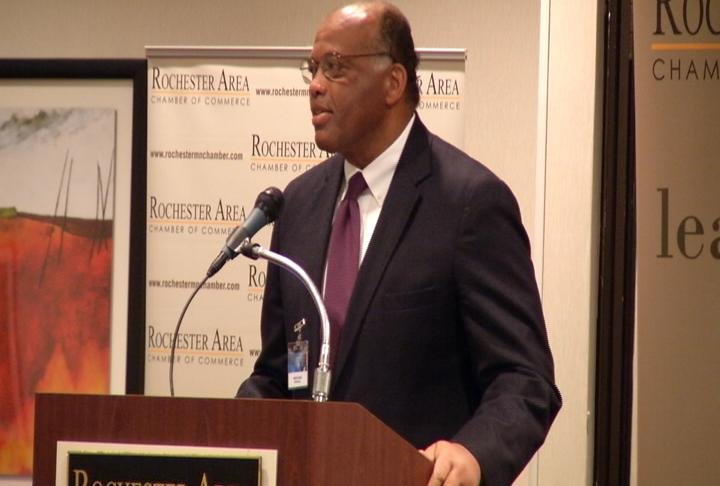 "Mayo Clinic CFO Kedrick Adkins gives keynote at ""We Have a Dream"" breakfast"