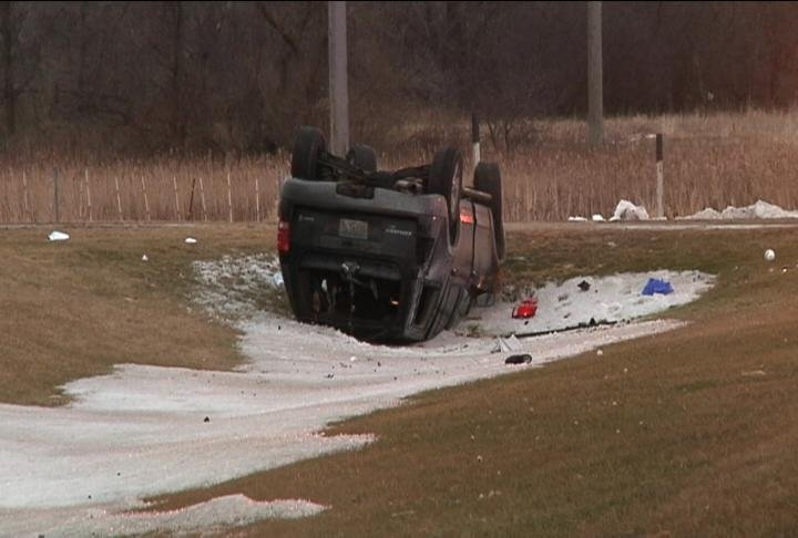 SUV rolls into the ditch on Highway 52 north of Zumbrota, no injuries