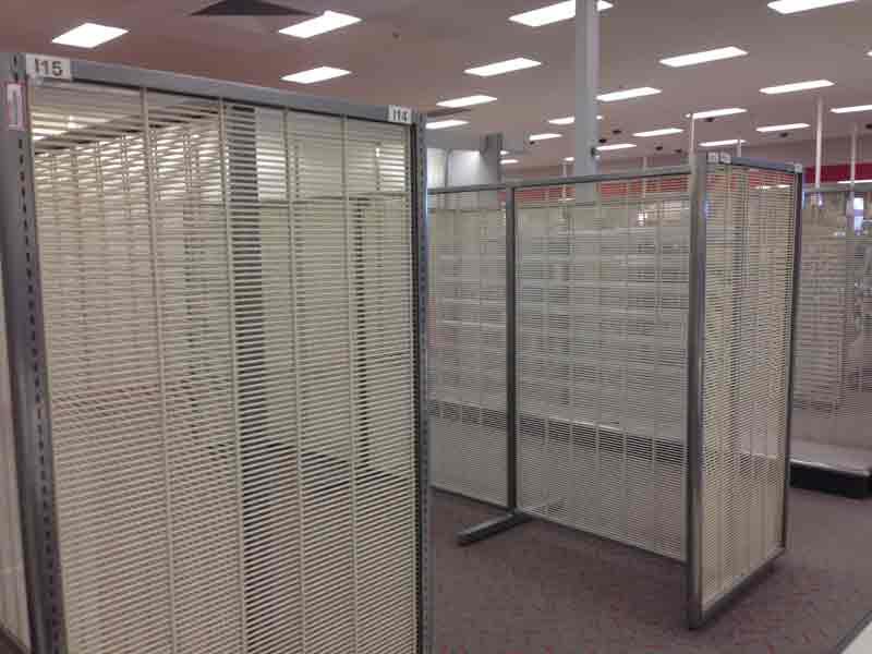 Bare shelves fill the Austin Target store on Friday