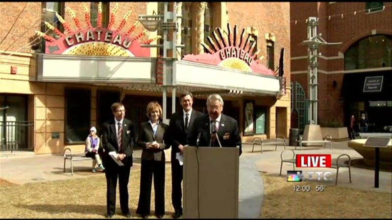 News conference on future of Chateau Theatre / Monday