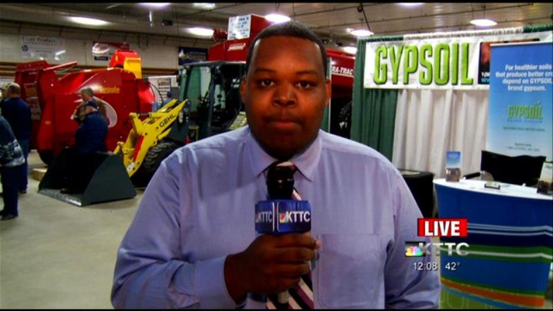 Newcenter's Taj Simmons reports live at the Agri News Farm Show at noon, Wednesday, March 18, 2015.