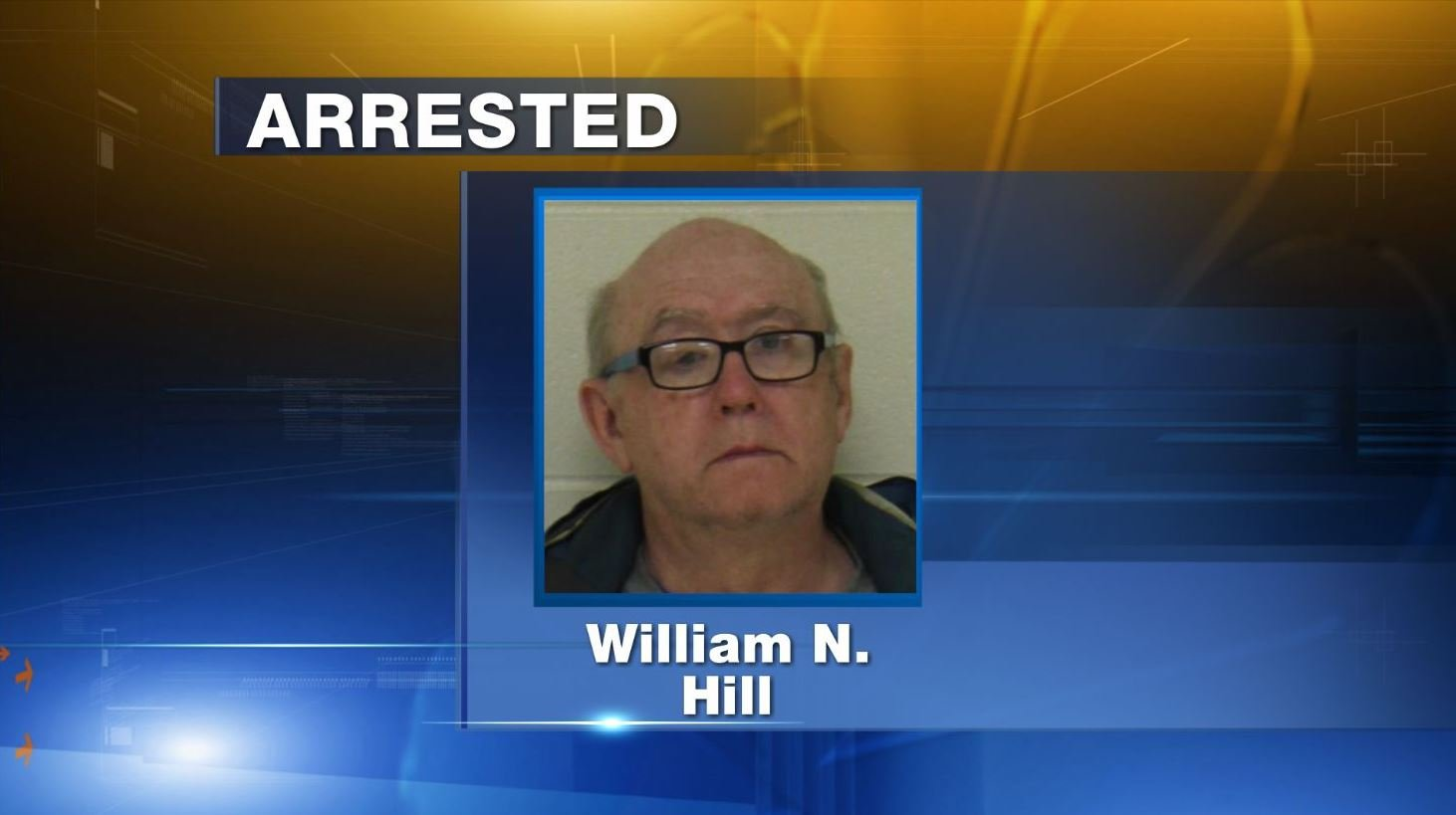 William Nathan Hill, 69, accused of animal torture after throwing a cat into the Winnebago River in a duffel bag.