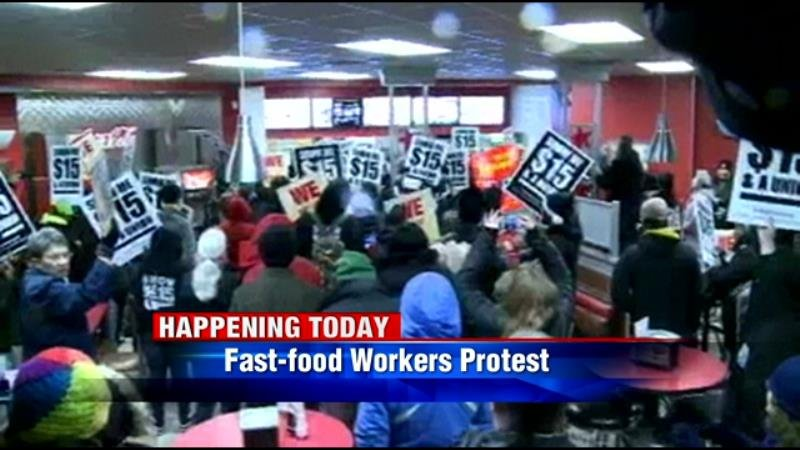 Protest to take place Wednesday at the University of Minnesota to call for $15-an-hour wages for fast food workers