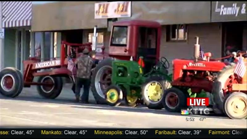 Students drive their tractors to school / Blooming Prairie