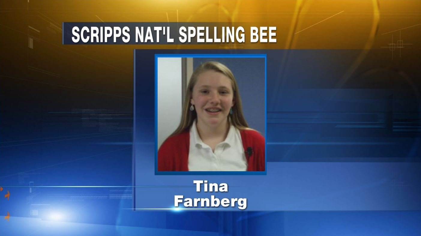 Tina Farnberg of Rochester is competing in the Scripps National Spelling Bee in Washington, D.C. on May 26-28.