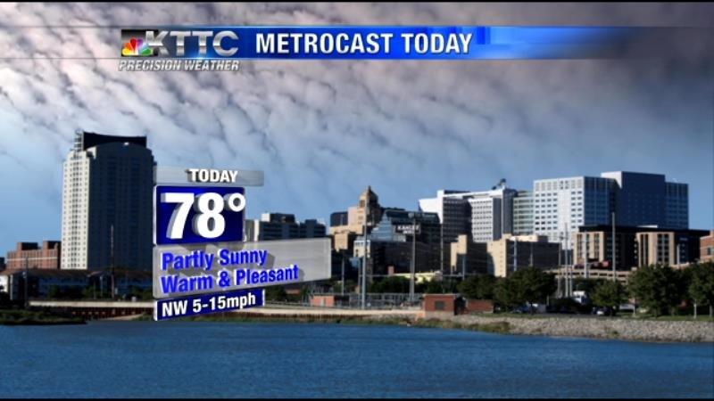 Some fog early, then occasional sunshine.