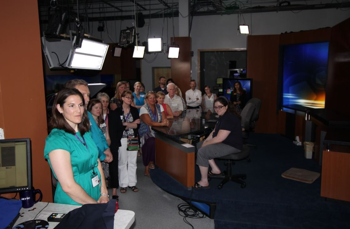 Business After Hours at KTTC included time to watch the KTTC NewsCenter live!