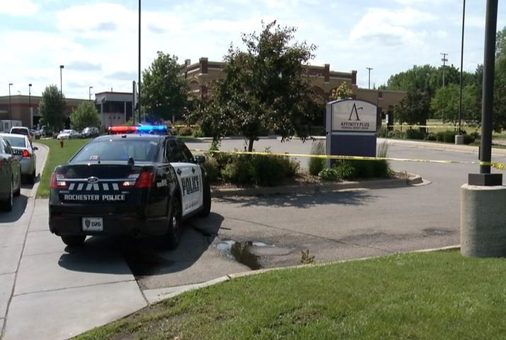 Rochester police investigating robbery at the Affinity Plus Federal Credit Union in northwest Rochester.