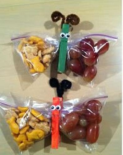 Tracey Rutherford's butterfly snack bags